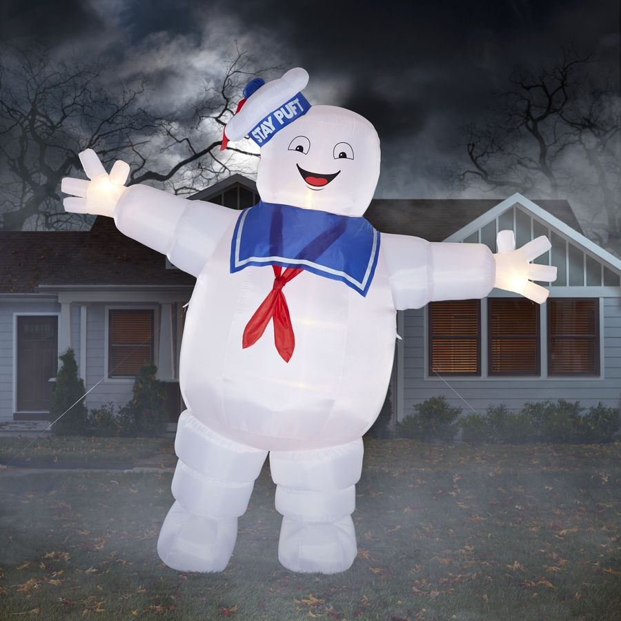 gemmy 12ft x 13ft lighted stay puft marshmallow man halloween inflatable