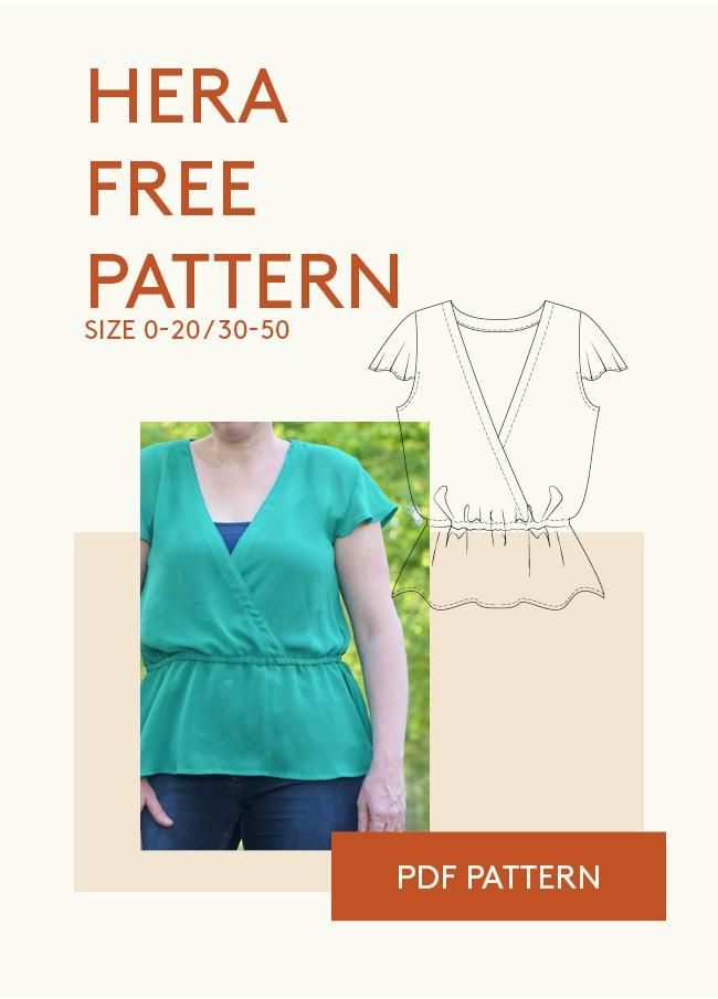 Free PDF sewing pattern from Wardrobe BY Me. The Hera summer shirt ...