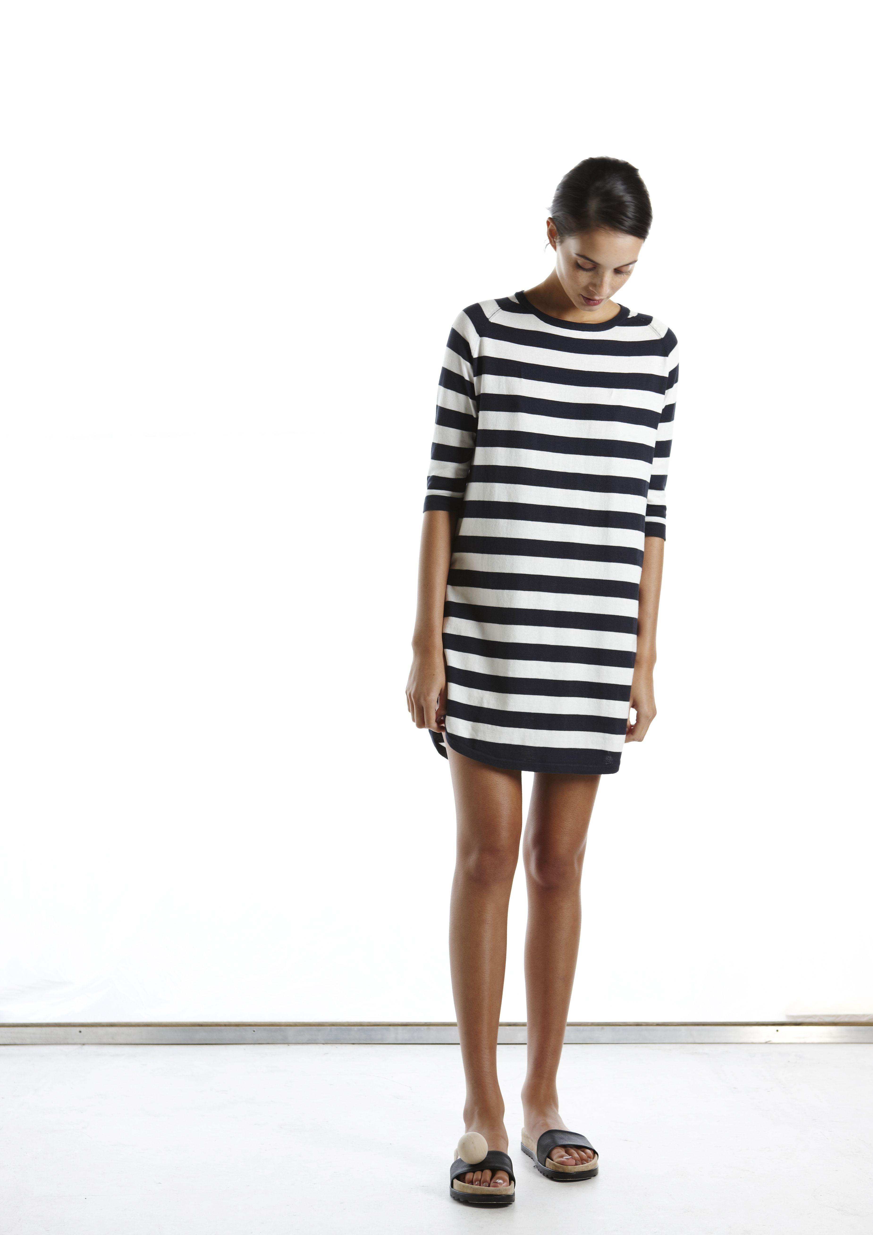 Stroll Tunic Navy/White Navy and white, Fashion, Mini