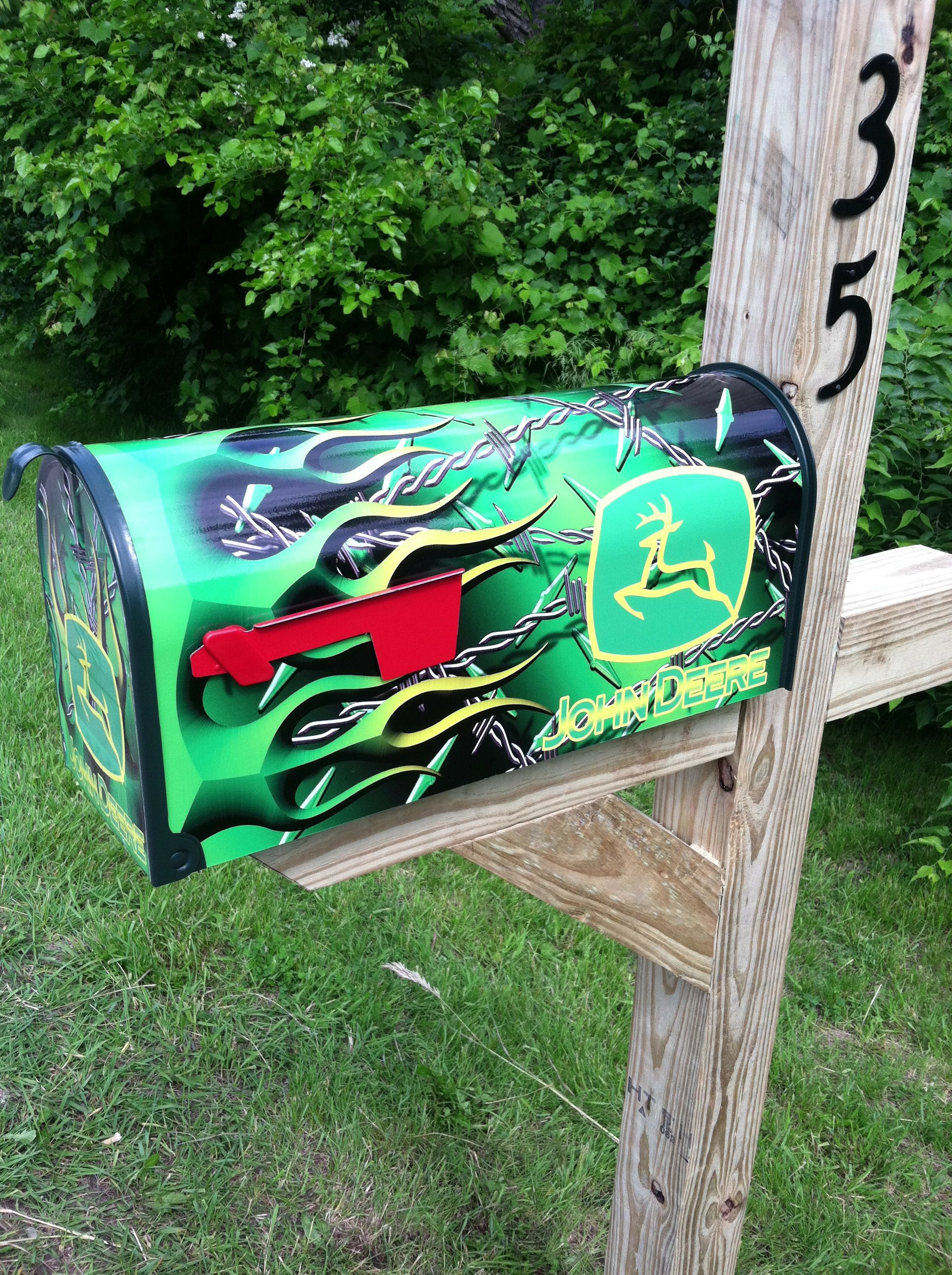 John Deere mailbox For the Home Pinterest