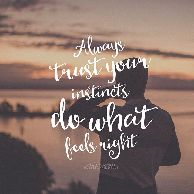 Always Trust Your Instincts Do What Feels Right Quotes