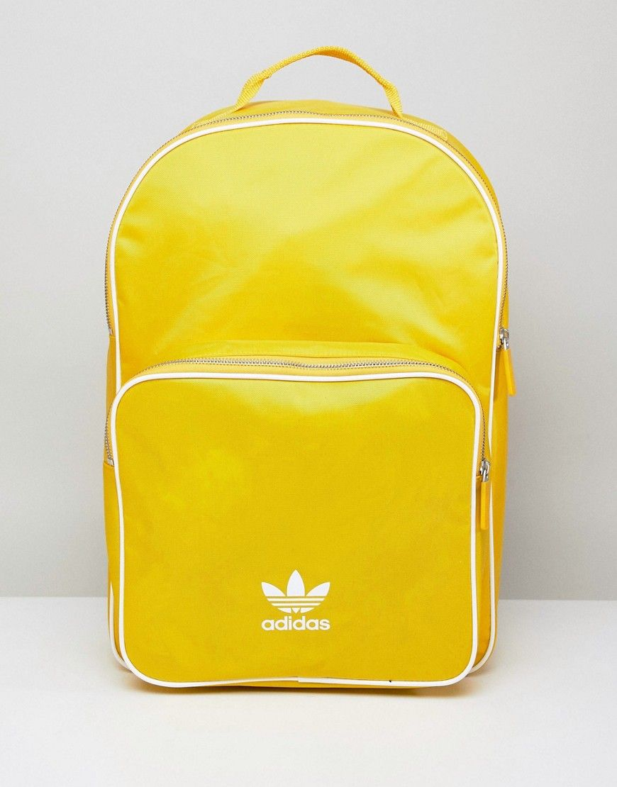 ADIDAS ORIGINALS ADICOLOR BACKPACK IN YELLOW CW0634 - YELLOW.   adidasoriginals  bags  backpacks   7419de541b