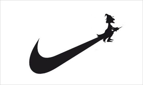 famous company logos redesigned for halloween 2013 makes me giggle rh pinterest com nike funny logo shirts Colorful Nike Logo