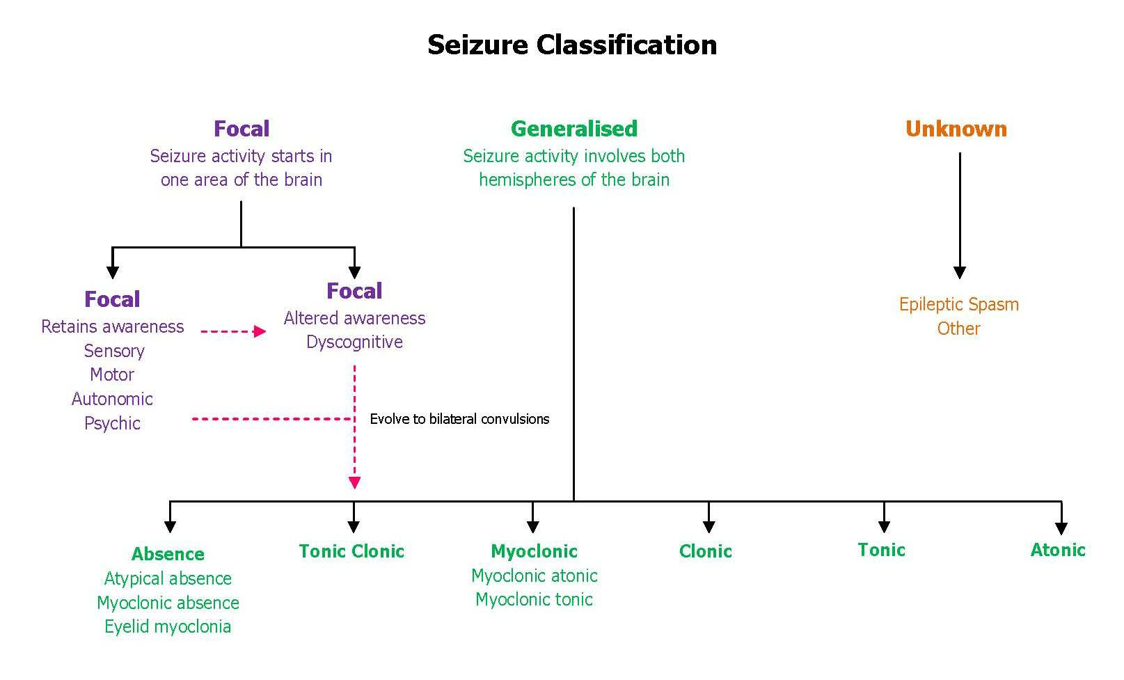 Eaa seizure classification chart also education resources pinterest rh
