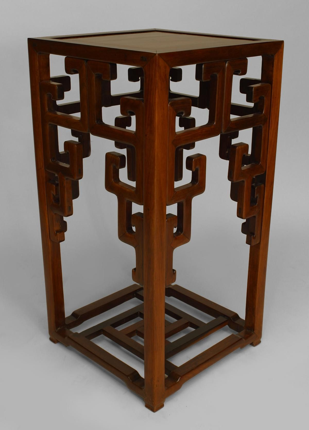 Asian rosewood pedestal