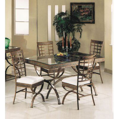 A J Homes Studio Cleopatra 5 Piece Dining Set Wooden Dining