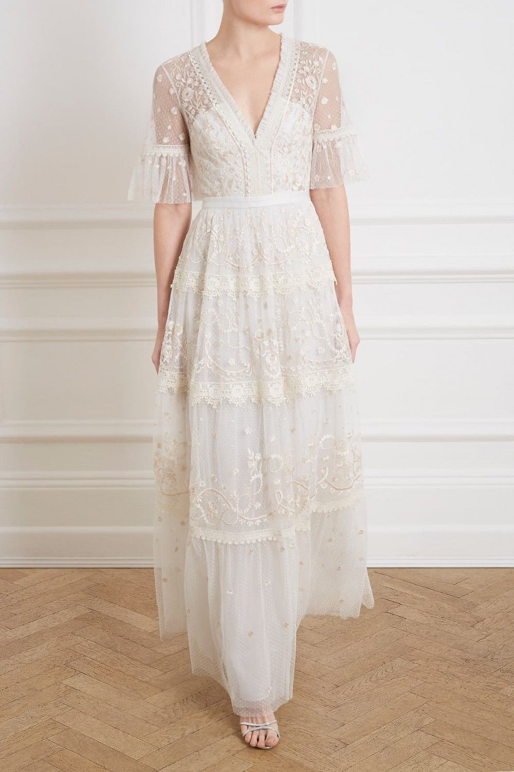 Midsummer Lace Gown in Ivory from Needle & Thread's New
