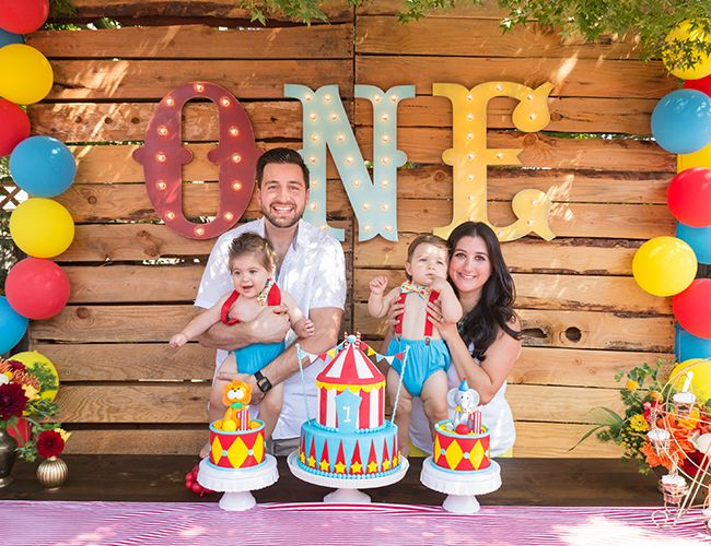 Animal Circus First Birthday Party Birthdays Animal and Carnival
