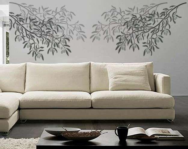 Plantillas stencil fotos diseños DIY - Plantillas de plantas para