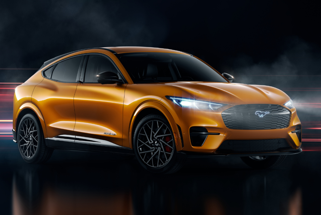 The 2021 Mustang Mach E Gt Is A Premium Trim For Ford S Electric Crossover Suv Men S Gear Ford Mustang Mustang Ford
