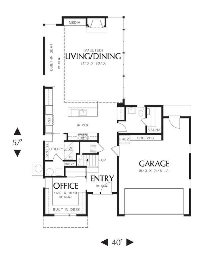 Efficient Layout Contemporary Elegance Plan 21113 The Alumont Is A 1899 Sqft Contemporary Style Modern Style House Plans Contemporary House Plans House Plans