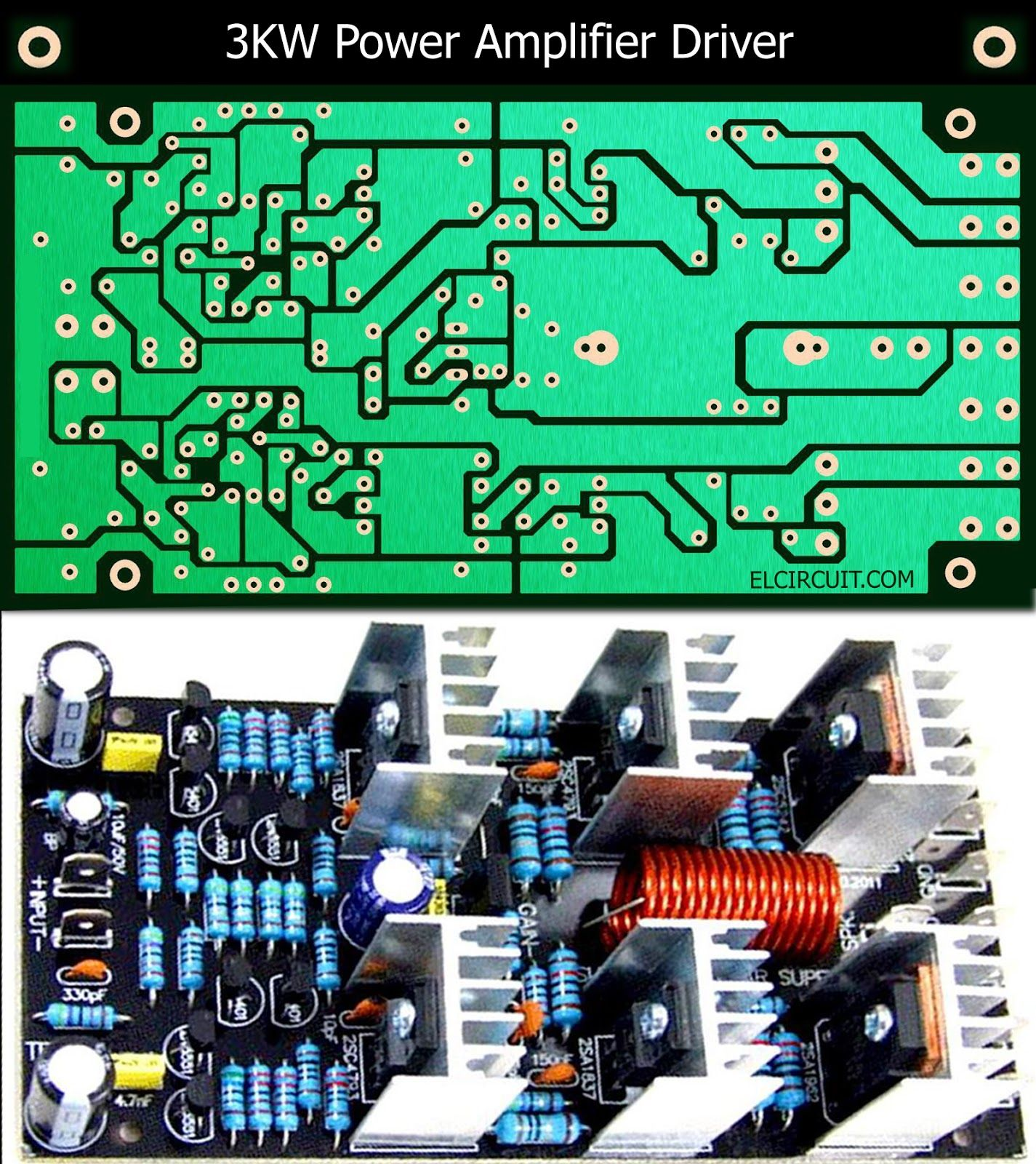 3kw Power Amplifier Driver Circuit Pcb Layout Power Amplifiers Audio Amplifier Circuit Diagram