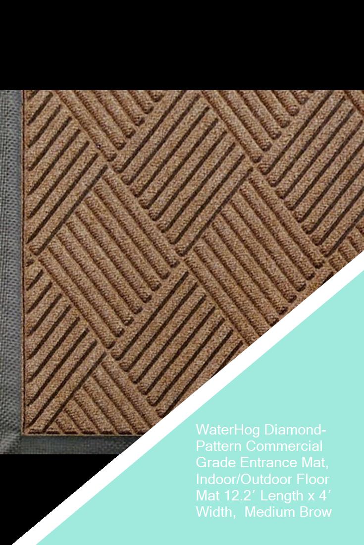 Waterhog Diamond Pattern Commercial Grade Entrance Mat Indoor Outdoor Floor Mat 12 2 Length X 4 Width Medium Bro Entrance Mat Outdoor Floor Mats Floor Mats