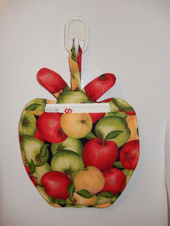 appleshape potholder hotpad sweet apple kitchen wall decor note ...