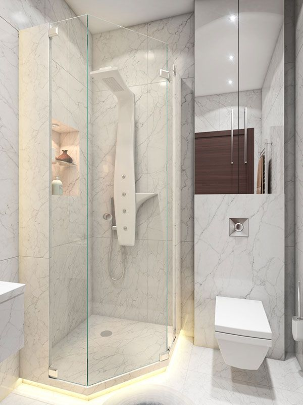 A super small 40 square meter home small shower stalls for Super small bathroom