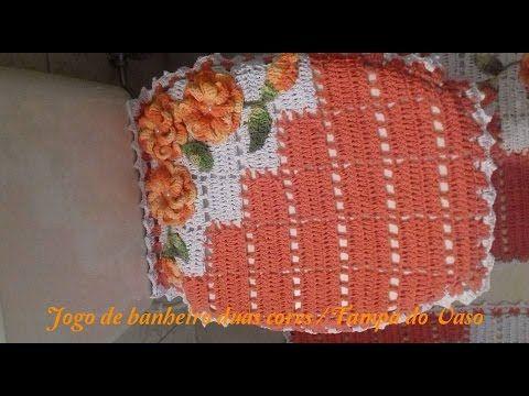 JOGO DE BANHEIRO DUAL COLOR TAMPA DO VASO - PARTE 1/3 - CRISTINA COELHO ALVES - YouTube