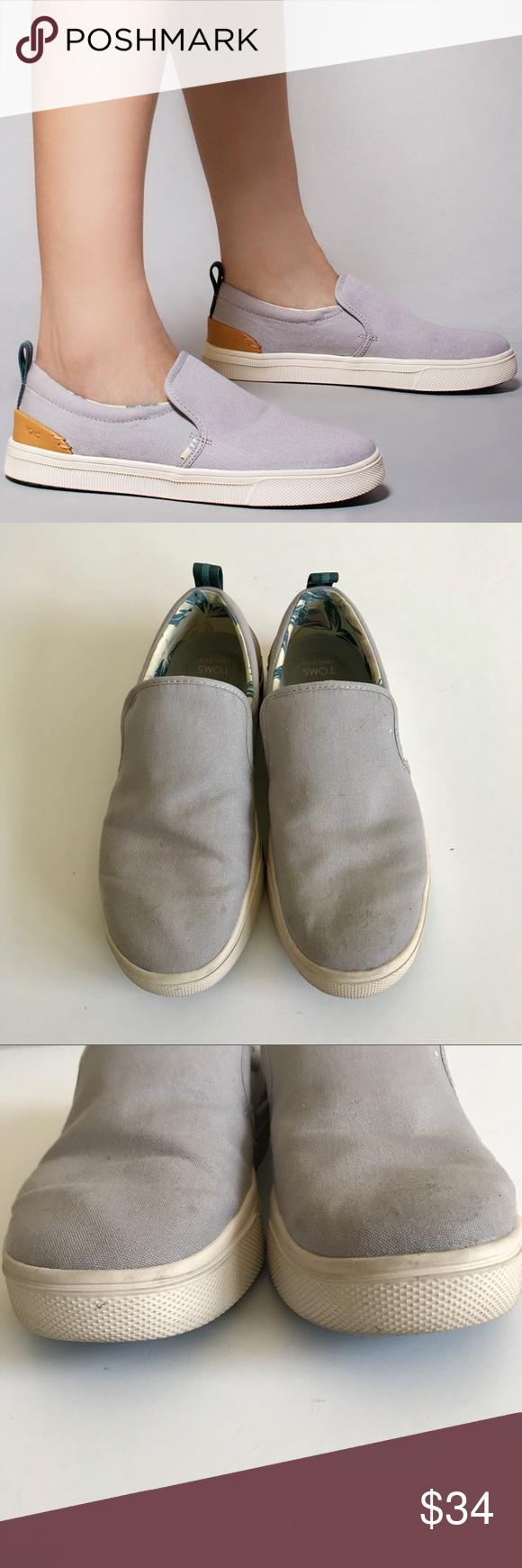 Trvl Lite Slip-Ons Shoes Gray Canvas
