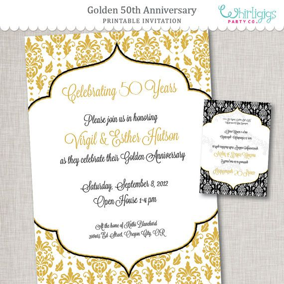 Hey, I found this really awesome Etsy listing at https://www.etsy.com/listing/112390303/50th-anniversary-diy-invitation