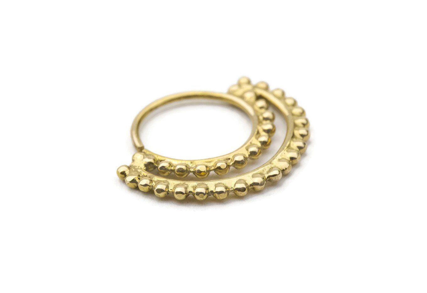 Gold nose piercing  Studio Meme Designer Handmade Nose Rings available in Solid k