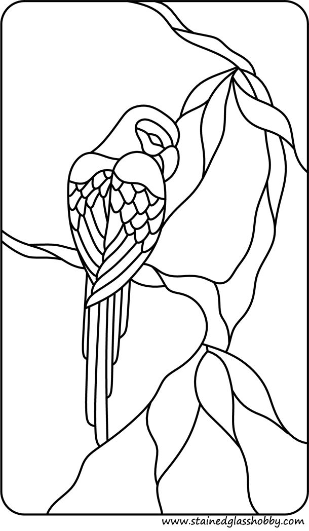 Stained Glass Birds Stained Glass Patterns Stained Glass