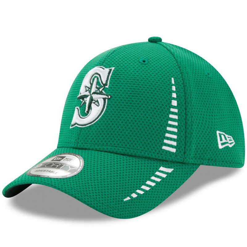 9ef7c0a778186 Seattle Mariners New Era Speed St. Patrick s Day 9FORTY Adjustable Hat -  Kelly Green