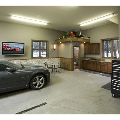 Garage Interiors Design Ideas  Pictures  Remodel  and Decor   What s     Garage Interiors Design Ideas  Pictures  Remodel  and Decor