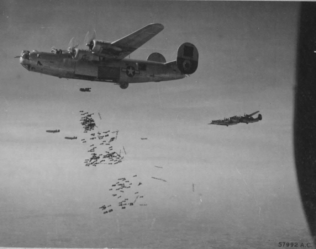 b 17 dropping bombs 24 liberator bomber of the 15th a f drops b 17 dropping bombs 24 liberator bomber of the 15th a f drops