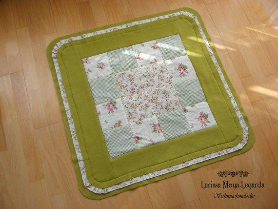 Baby Blanket Green Cuddle Blanket Fleece Patchwork Blanket