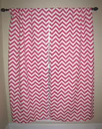 Pink Chevron Curtains For Baby Girls Room Navy Blue Walls