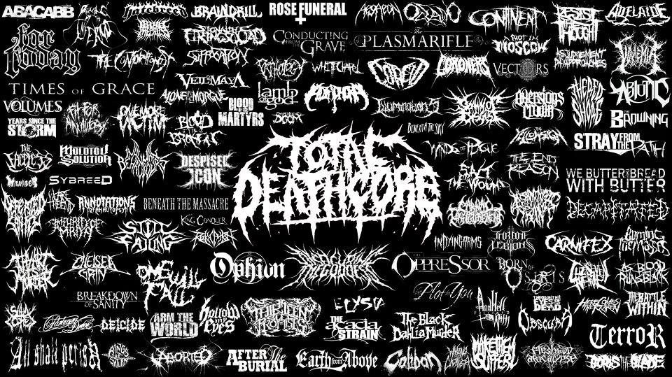 a compilation of deathcore band logos deathcore etc