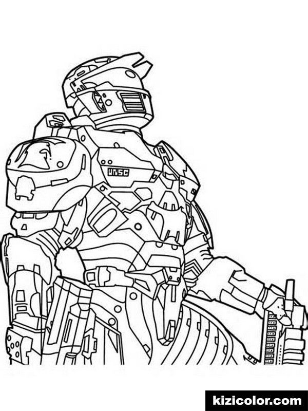 Halo For Boys 6 Kizi Free Coloring Pages For Children