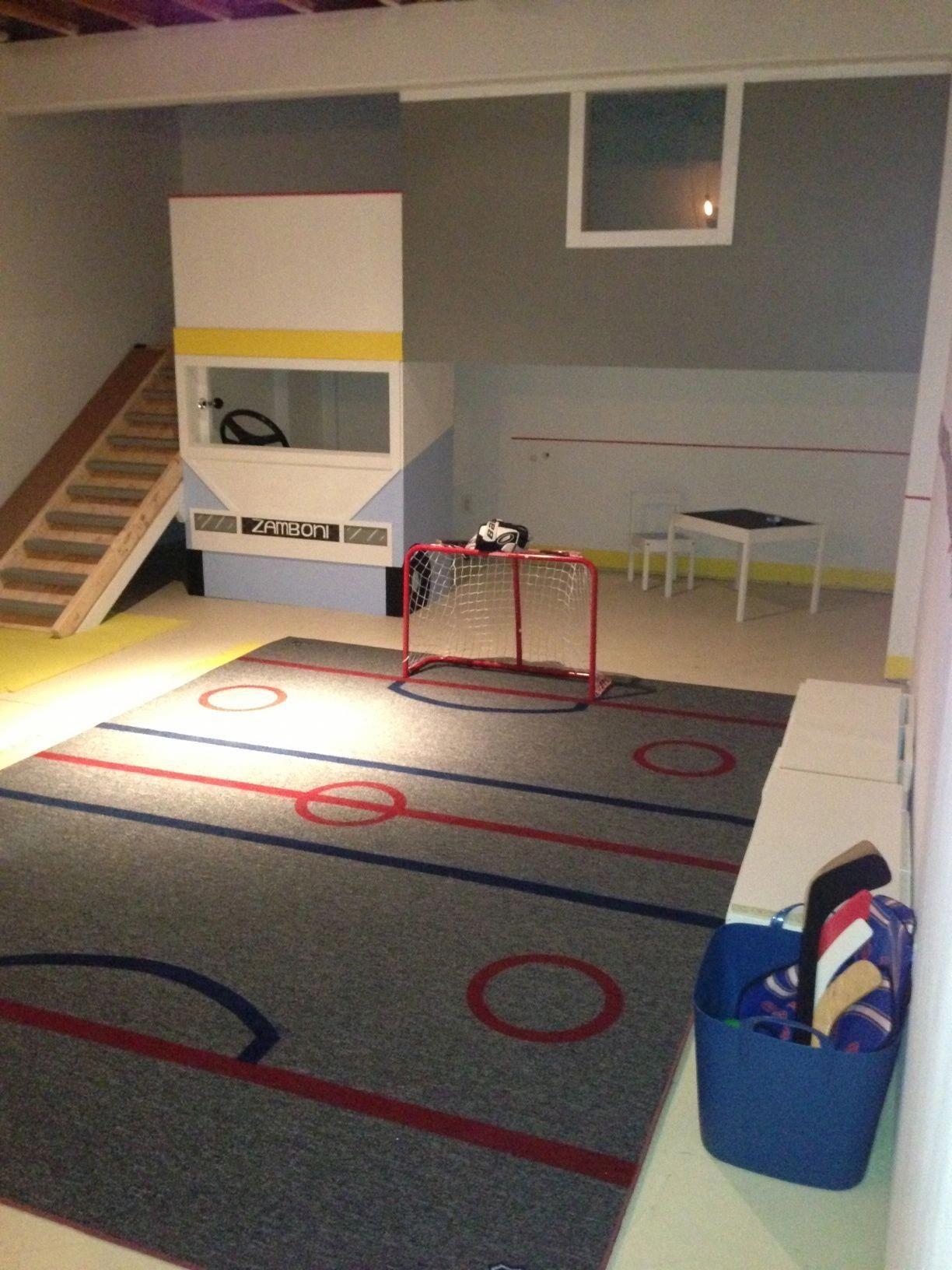 Pin By Christie Ilharramendy On Organize Hockey Bedroom Hockey Room Boys Hockey Room