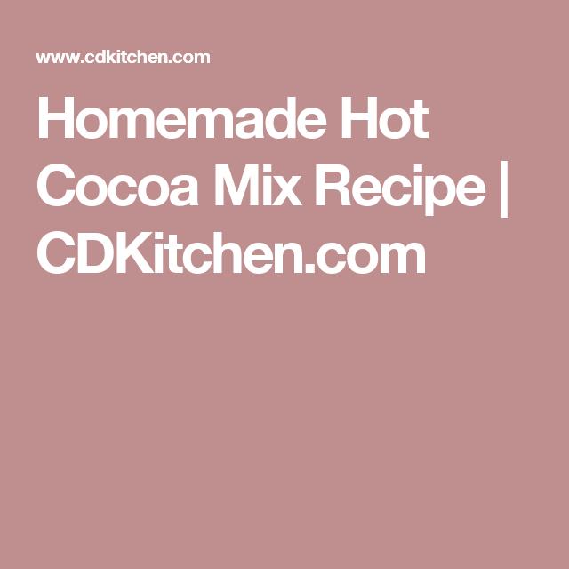 Homemade Hot Cocoa Mix Recipe   CDKitchen.com