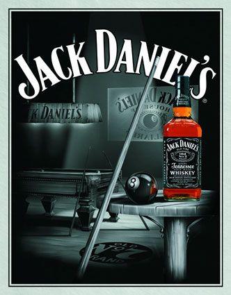 Jack Daniel S : Pool Room   Maxi Poster 61 Cm X (new U0026 Sealed)