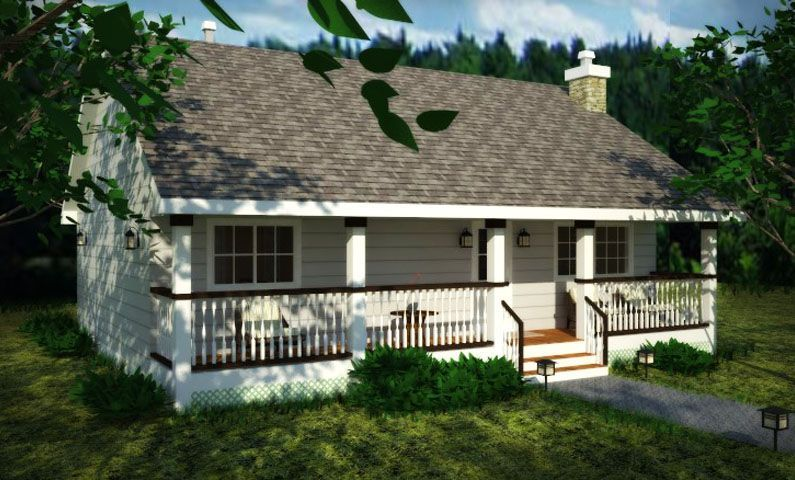 Country Style House Plan 2 Beds 1 Baths 900 Sq Ft Plan 18 1027 Country Style House Plans House Plans Bungalow House Plans