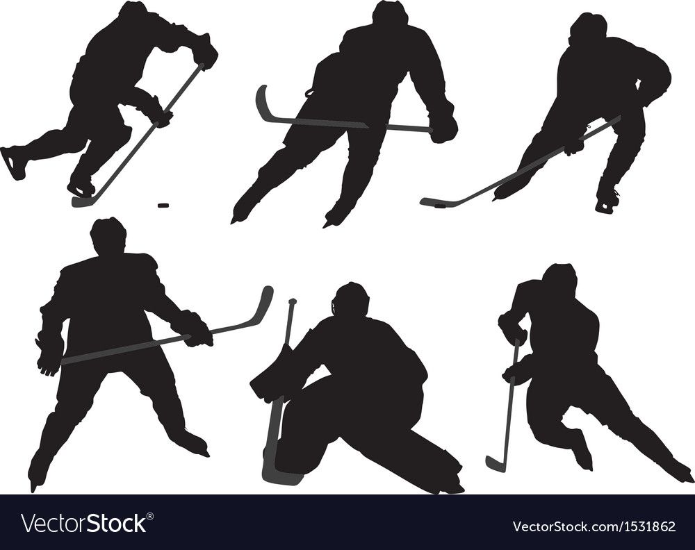 Ice Hockey Player Silhouette Vector Image On Vectorstock Hockey Players Ice Hockey Hockey