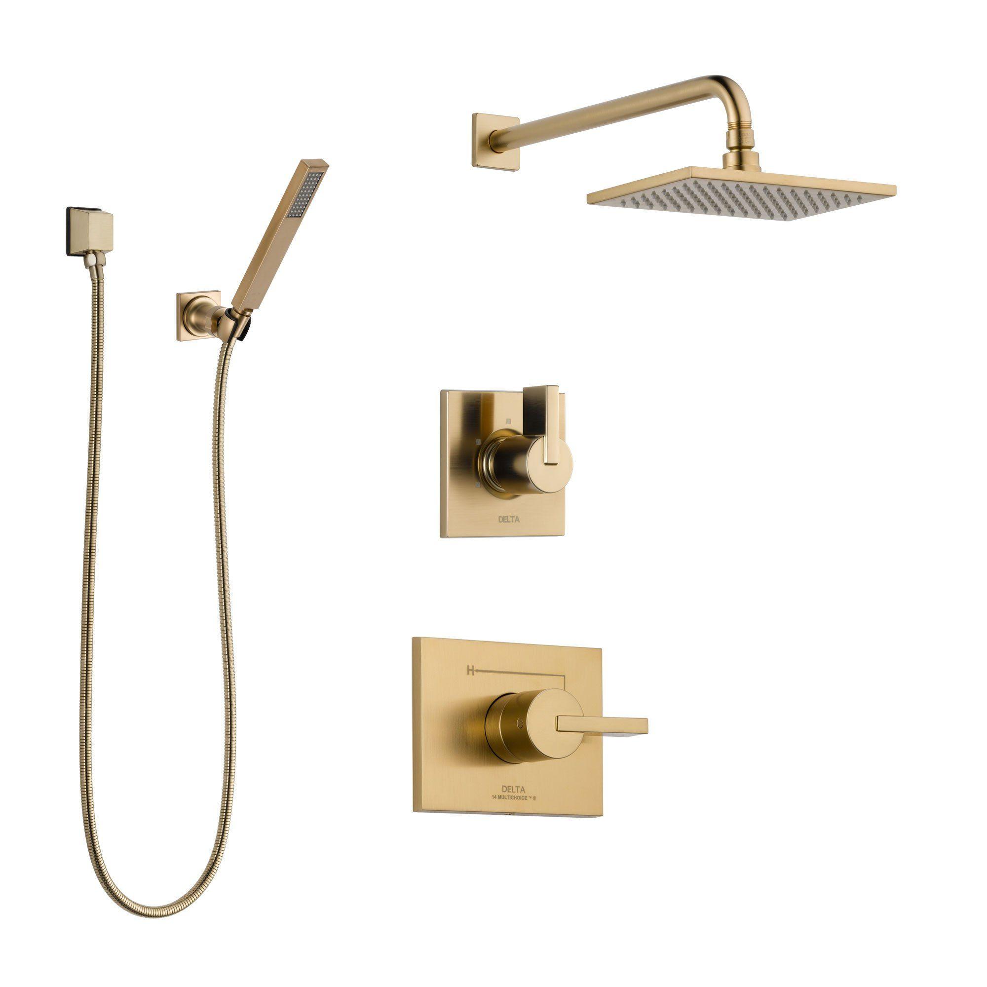 Delta Vero Champagne Bronze Finish Shower System With Control