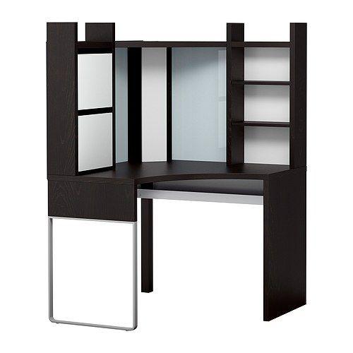 Us Furniture And Home Furnishings Corner Workstation Ikea Desk Ikea Micke