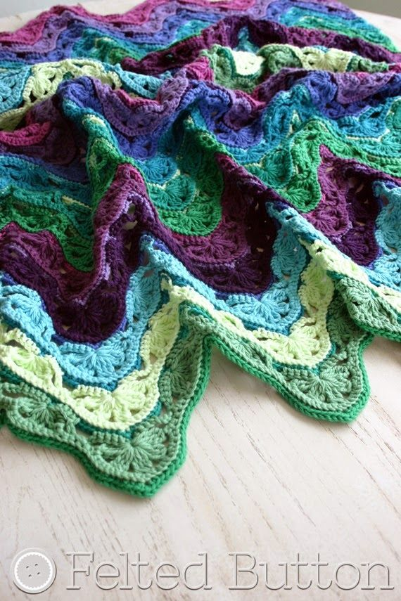 Brighton Blanket -- free crochet pattern by Susan Carlson of Felted ...