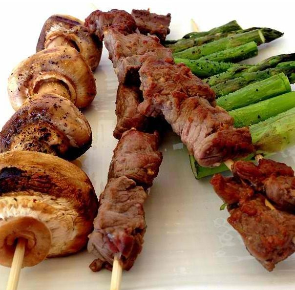 Tequila lime steak kebabs Recipe available at www.myhealthydish.com