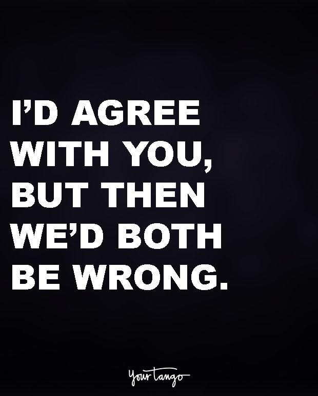 I D Agree With You But Then We D Both Be Wrong Sarcastic Quotes Funny Quotes Sarcastic Quotes Funny