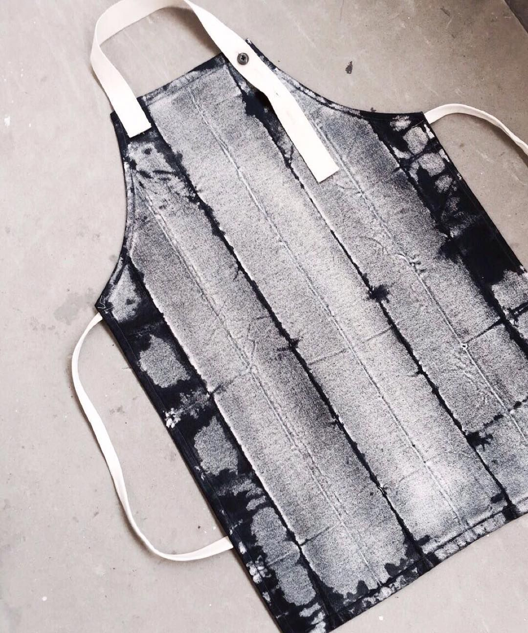 White apron singapore - Hand Dyed Shibori Inspired Apron Shibori Art Craft Cooking