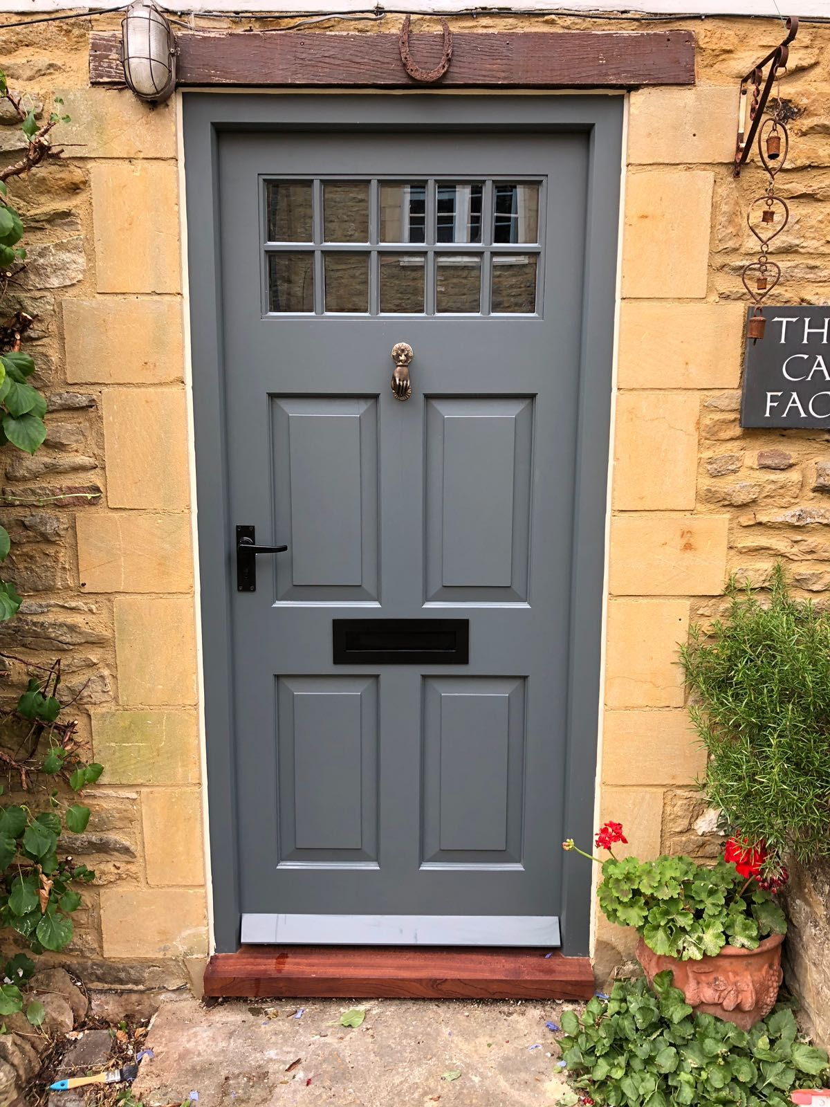 New front door made to the customers design and spray finished ...