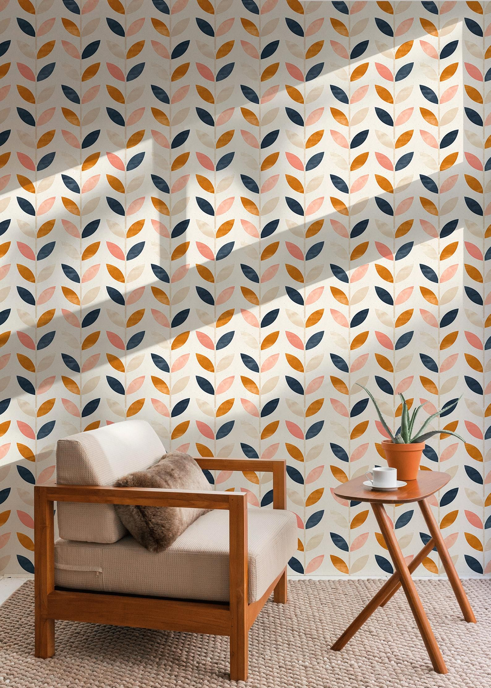 Vintage Style Peel And Stick Wallpaper