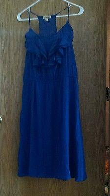 Nina & Mee Blue Summer Dress Ruffle Top Size L