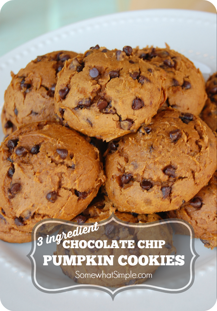 Gf Pumpkin Chocolate Chip Cookies With Spice Cake Mix