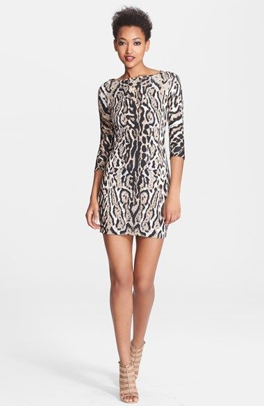 Just Cavalli Back Cutout Leopard Print Jersey Dress available at #Nordstrom