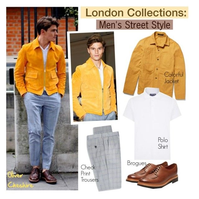 London Collections: Men Street Style/Oliver Cheshire by helenevlacho on Polyvore featuring polyvore, fashion, style, Hardy Amies, Freemans Sporting Club, LondonCollections, menstreetstyle, OliverCheshire and SS16