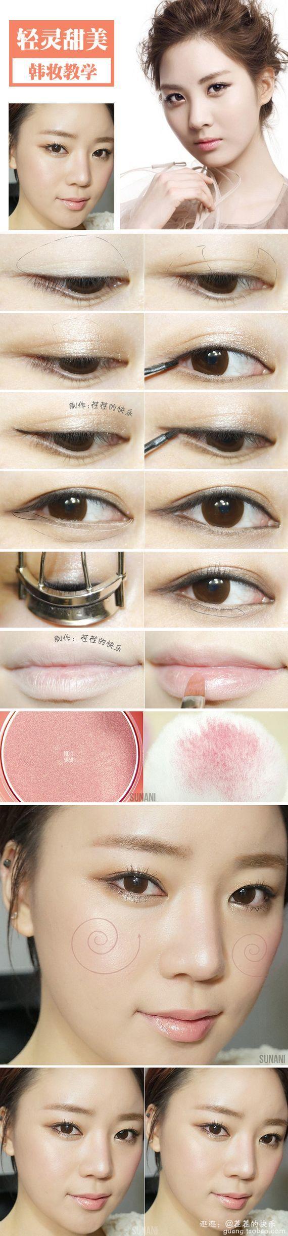 makeup Natural look Korea Asian eye makeup, Korean