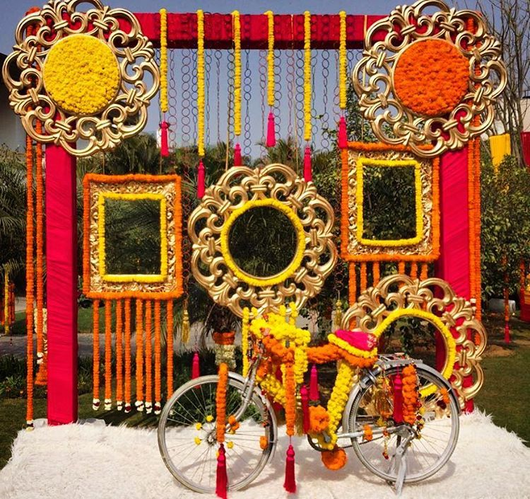 Indian Wedding Decor Ideas: Beautiful Photo Booth For Sangeet Ceremony